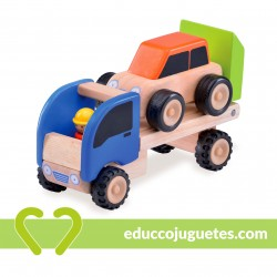 Trailer de Madera con Coche Wonderworld