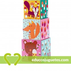 Cubos Apilables Bosque Djeco