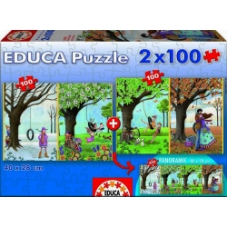 Puzzle panorámico 2x100